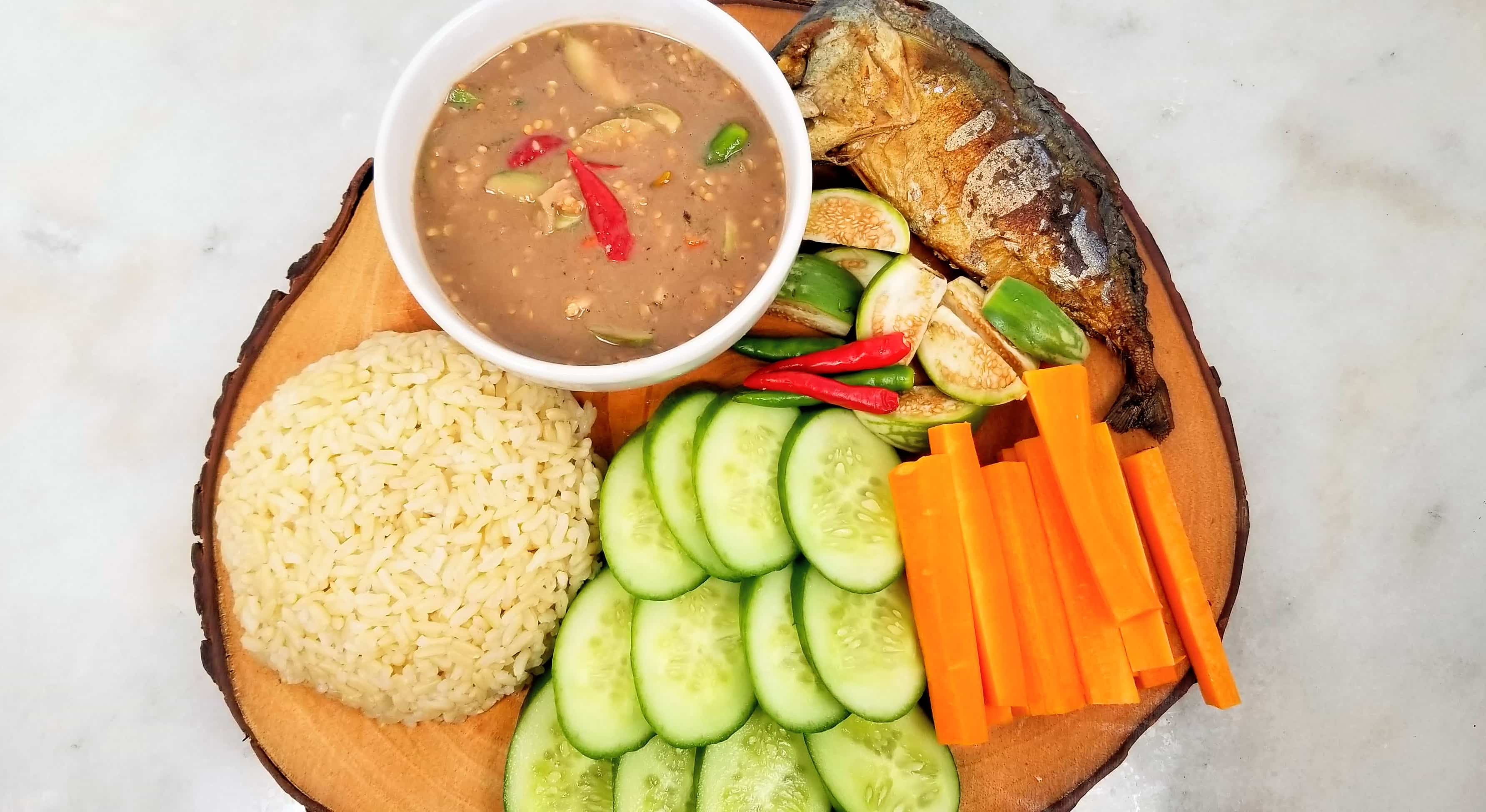 Nam Phrik Kapi (น้ำพริกกะปิ) - Healthy Thai Recipes