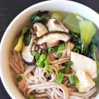 Ginger Soba Noodles Soup