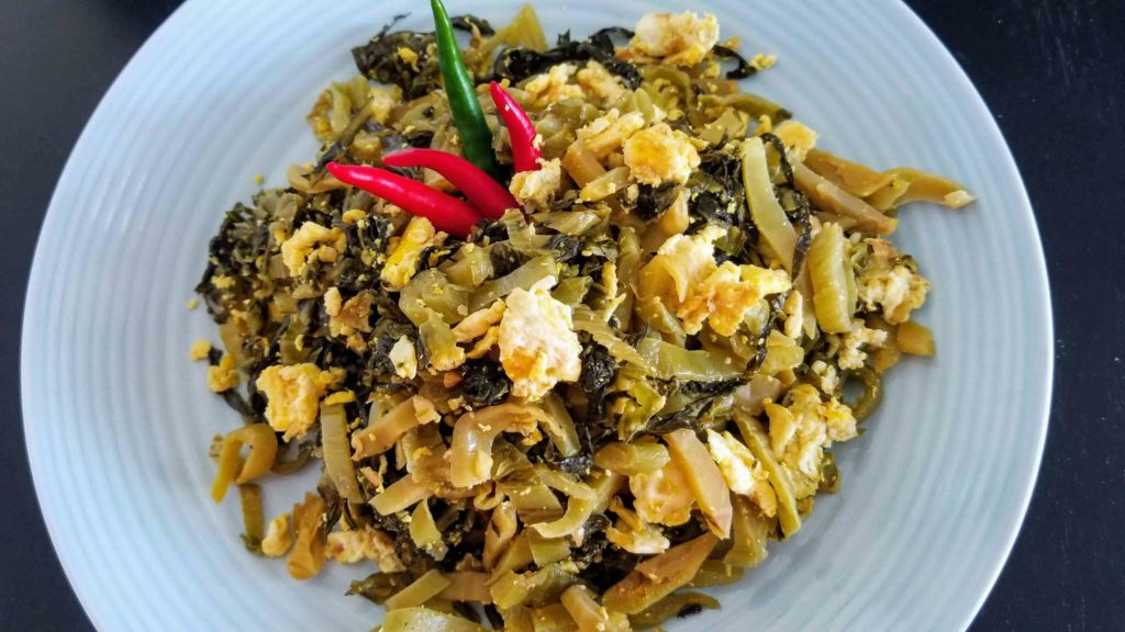 Pickled Mustard Green and Eggs