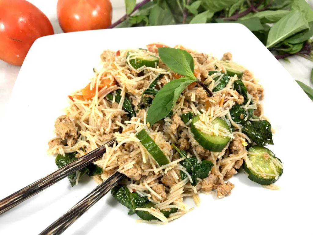 Stir-fried Vermicelli with Turkey Sausage