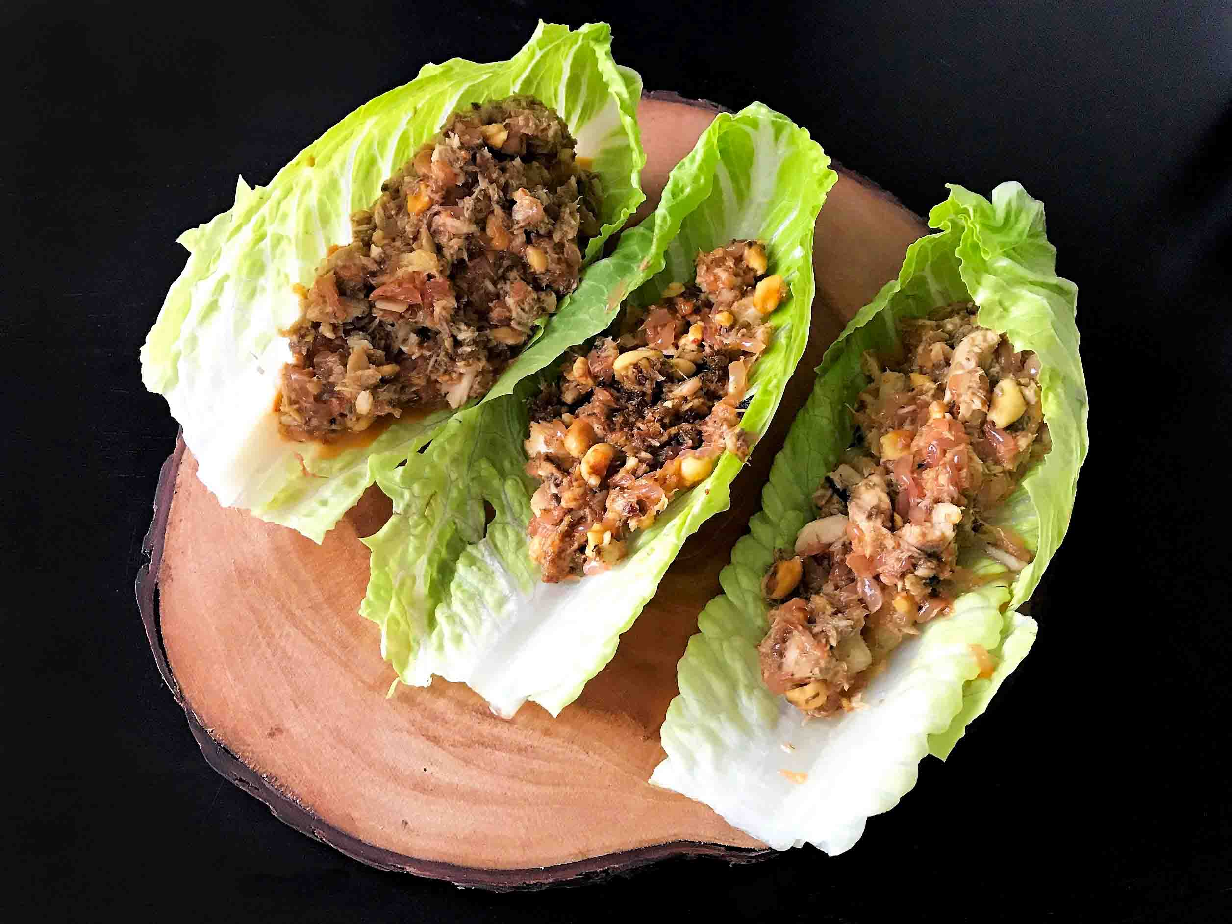 Grapefruit and Pomelo Peanut Lettuce Wraps