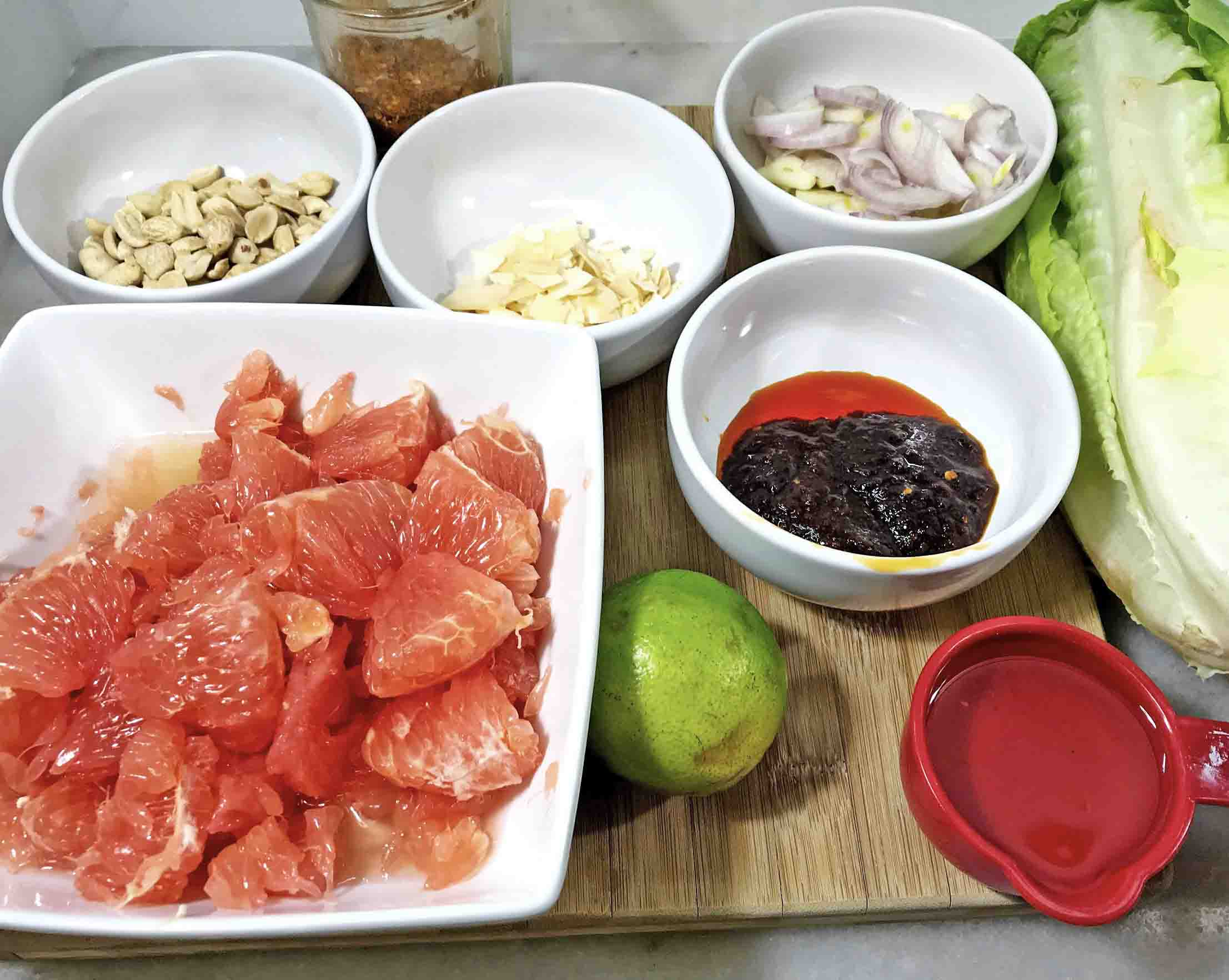 Pomelo Grapefruit Lettuce Wraps Ingredients