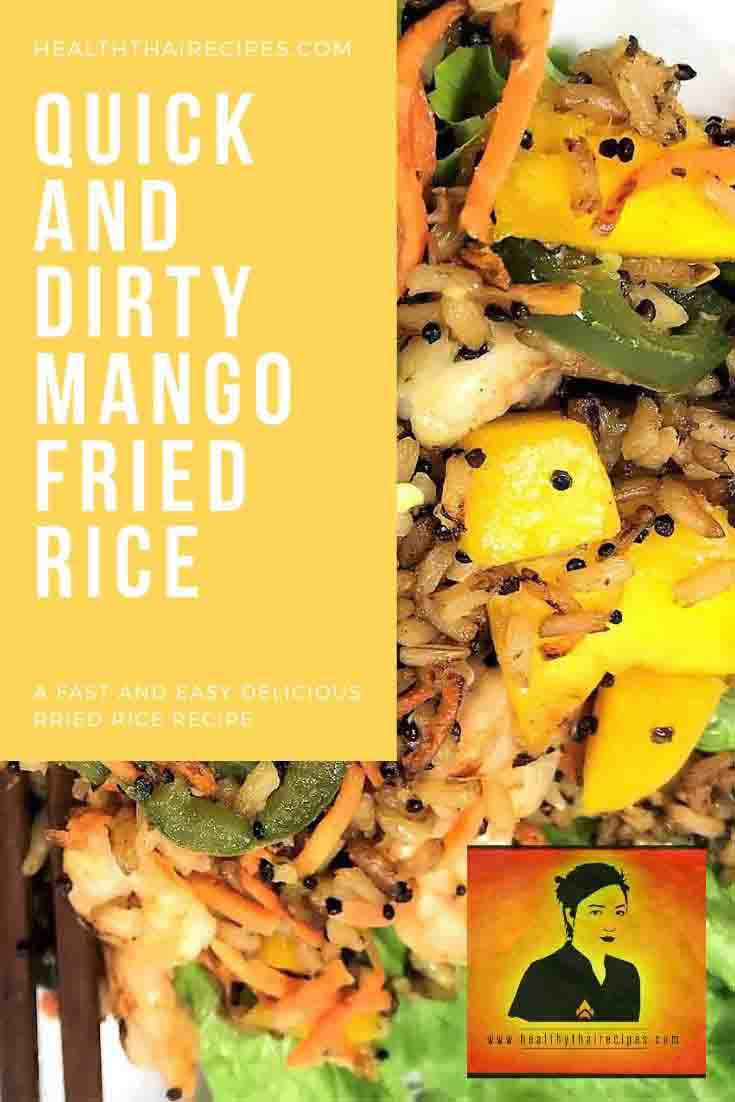 Healthy Thai Style Mango Fried Rice