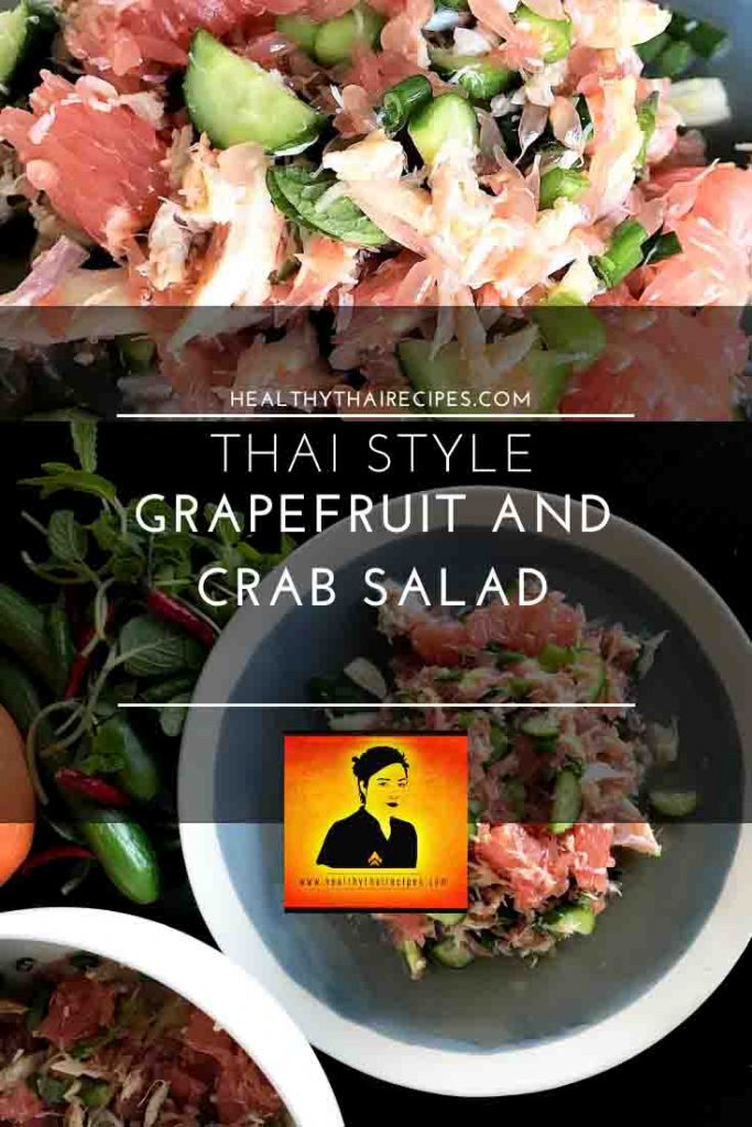 Thai Style Grapefruit and Crab Salad Pinterest Image