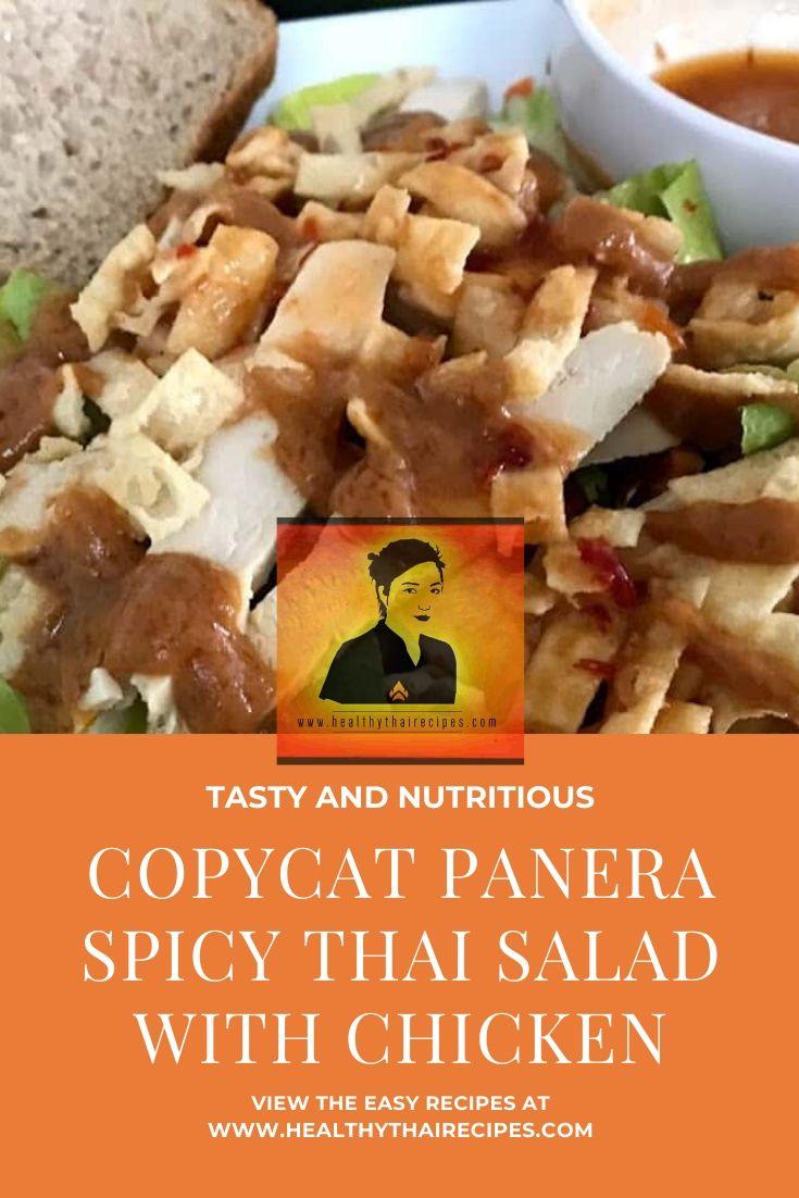 COPYCAT PANERA SPICY THAI SALAD WITH CHICKEN PINTEREST IMAGE