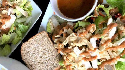 Copycat Panera Spicy Thai Salad with Chicken