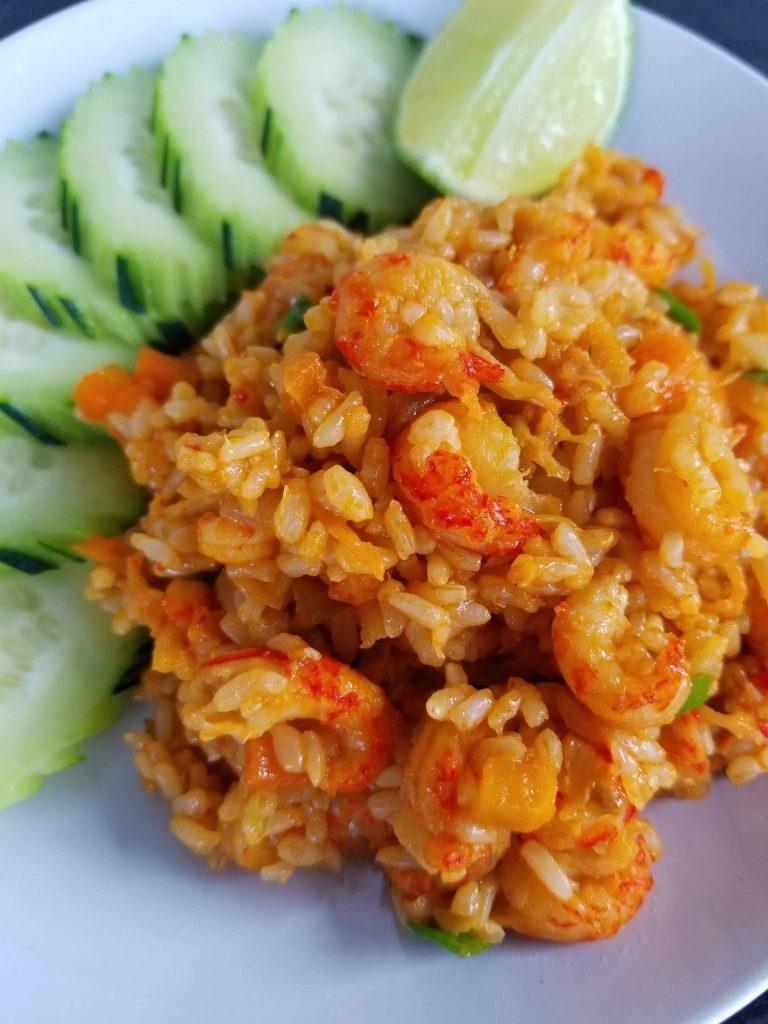 Crawfish Fried Brown Rice