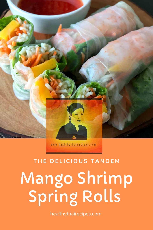 Mango Shrimp Spring Rolls Pinterest Image