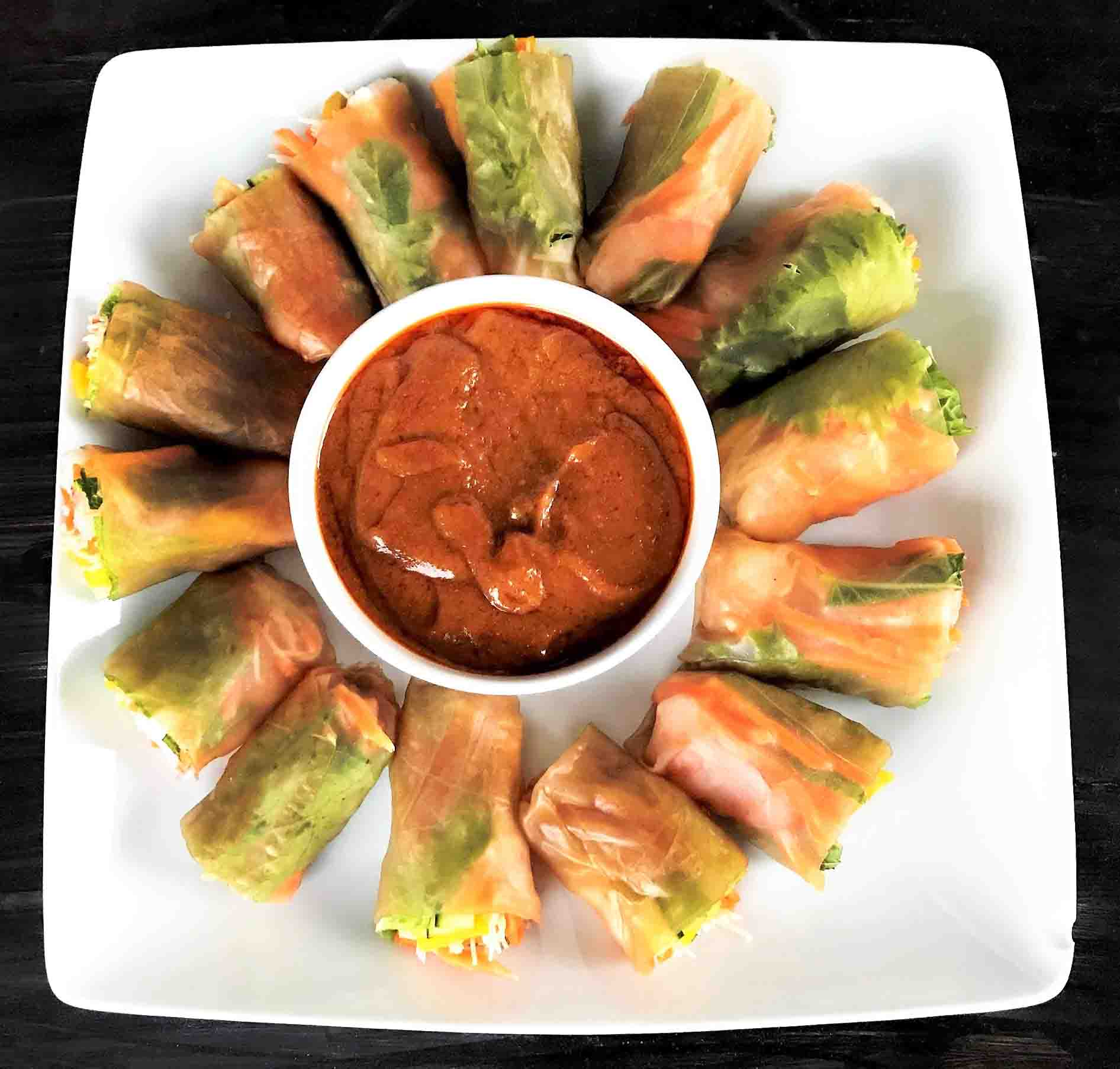 Mango Shrimp Spring Rolls With a Brown Rice Wrapper