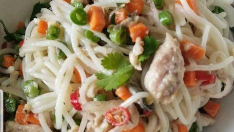 Thai Mackerel Rice Noodles Salad