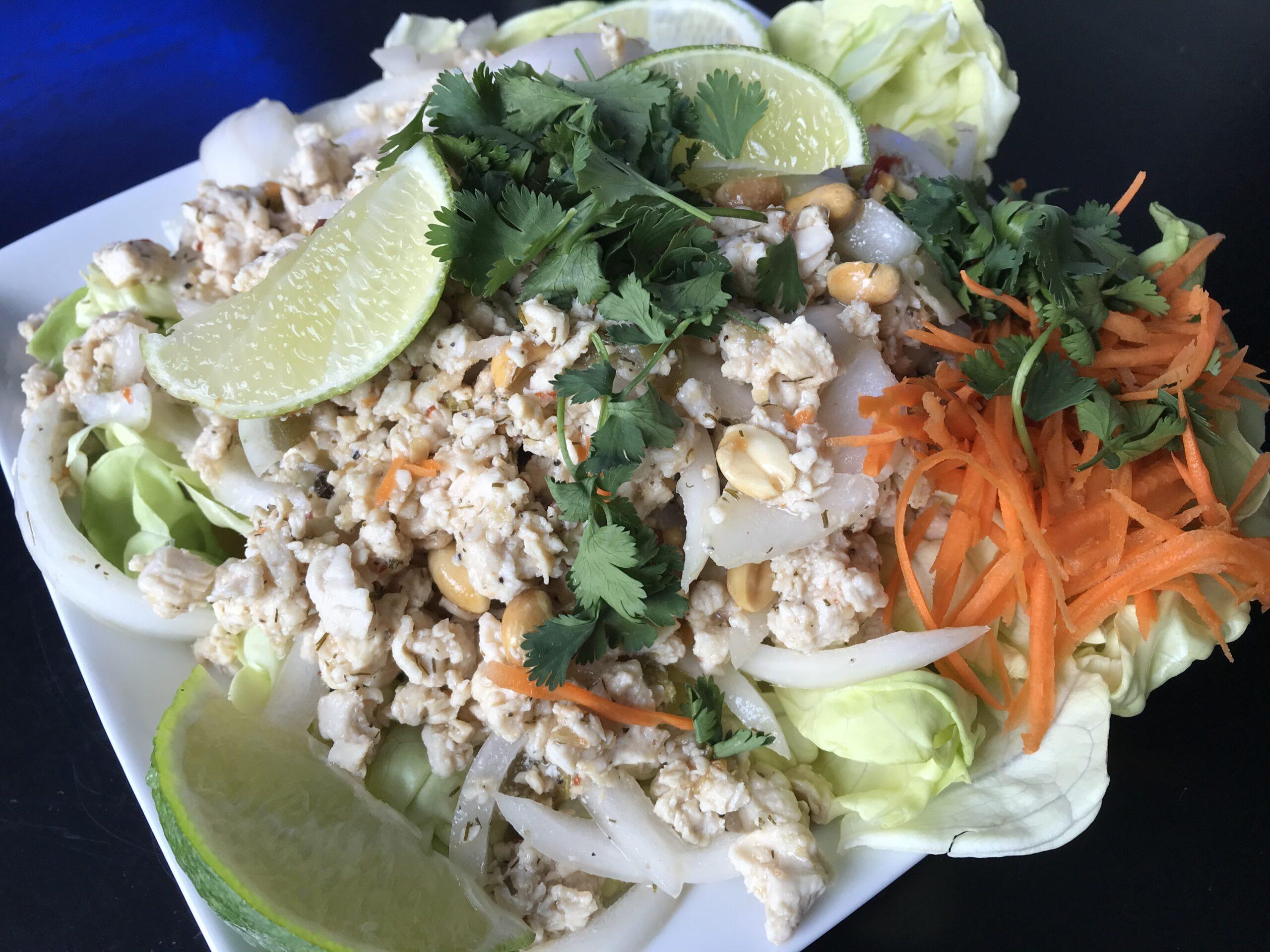Simple Nam Sod Salad