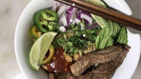 Thai Beef Noodle Pho Fusion Recipe