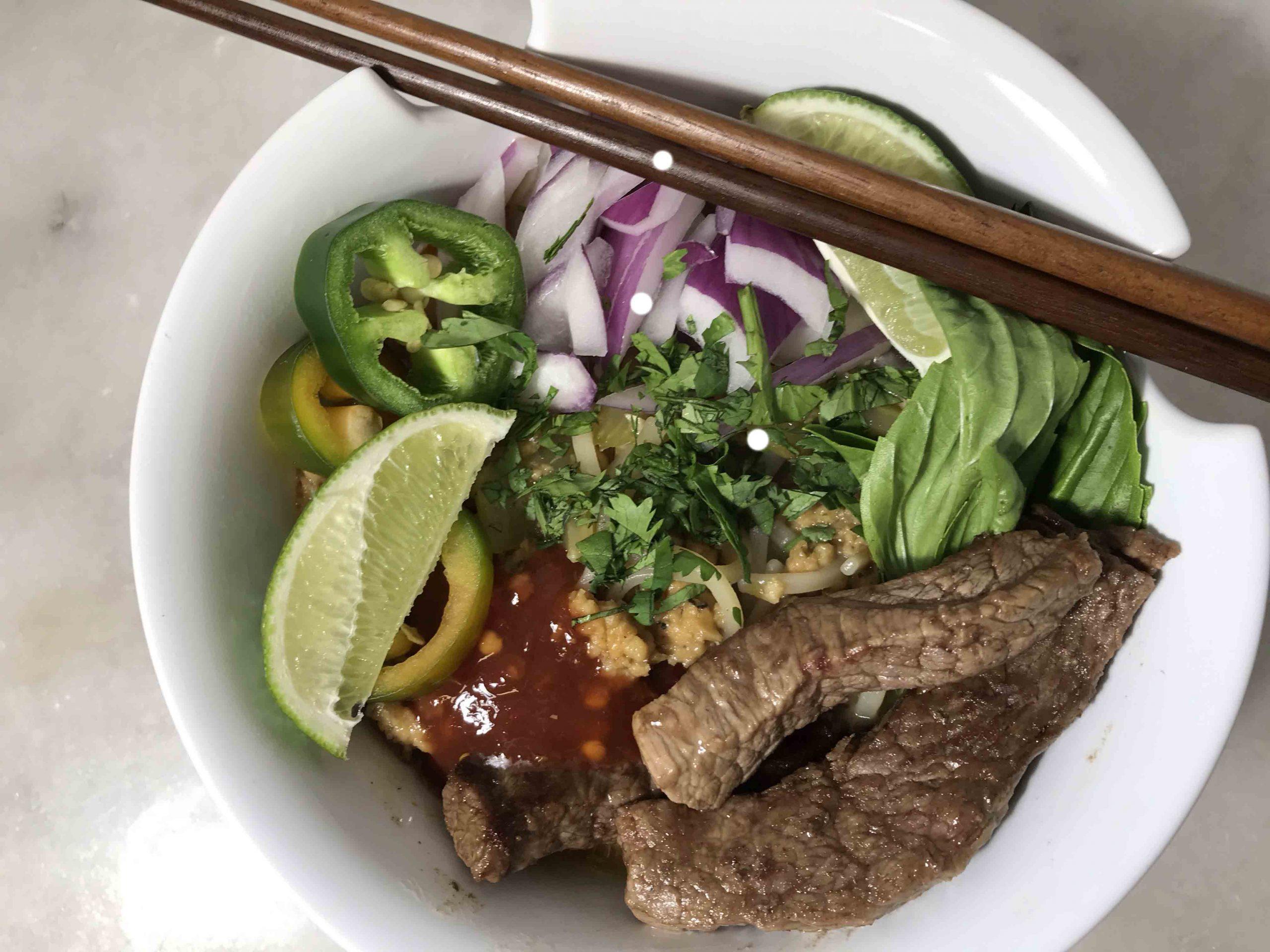 Thai-Pho Fusion Beef Noodle Soup