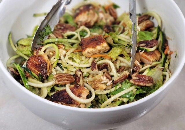 Copycat B. Good Thai Noodle Salad With Blackened Salmon