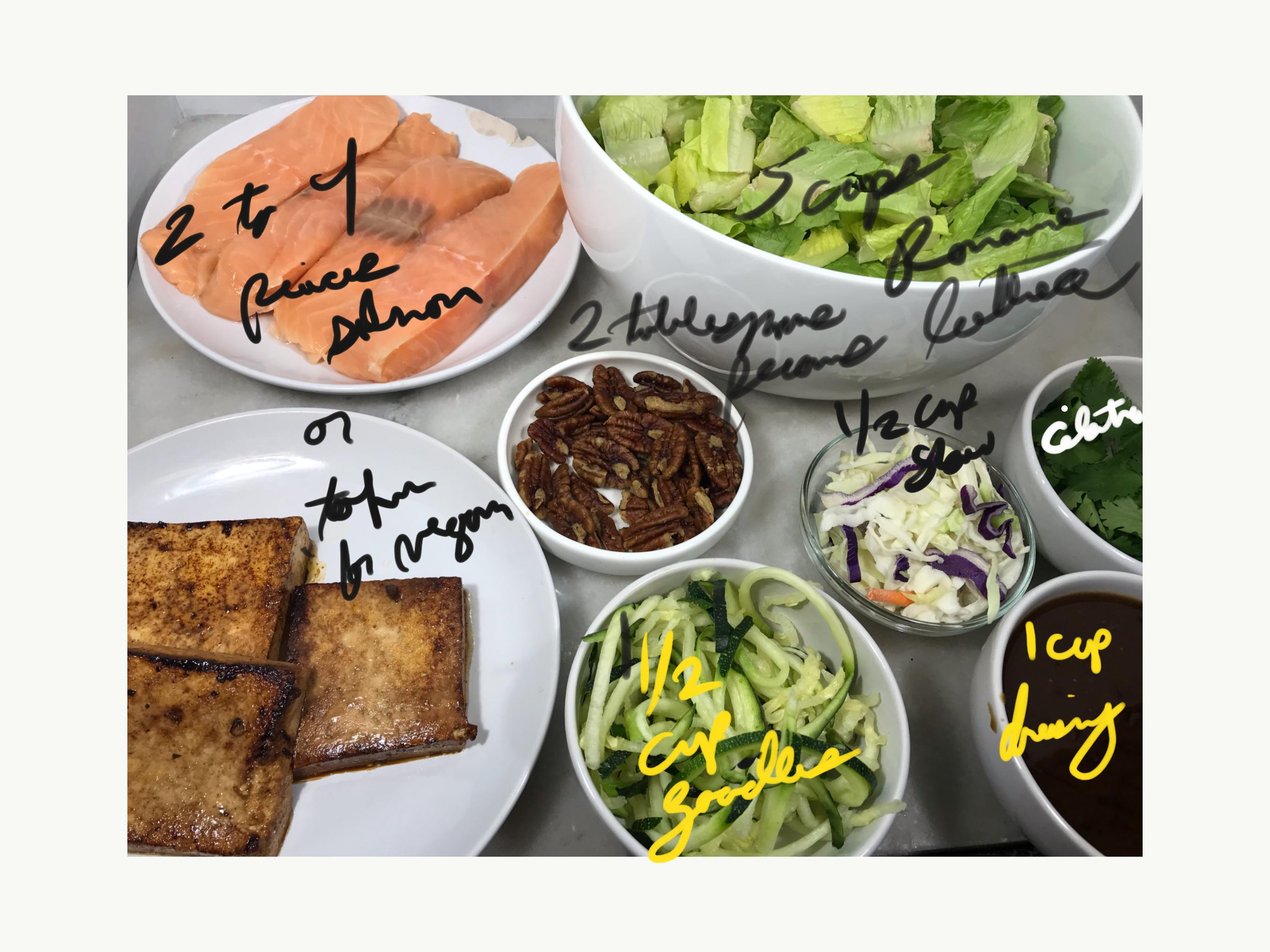 Copycat B. Good Thai Noodle Salad Ingredients