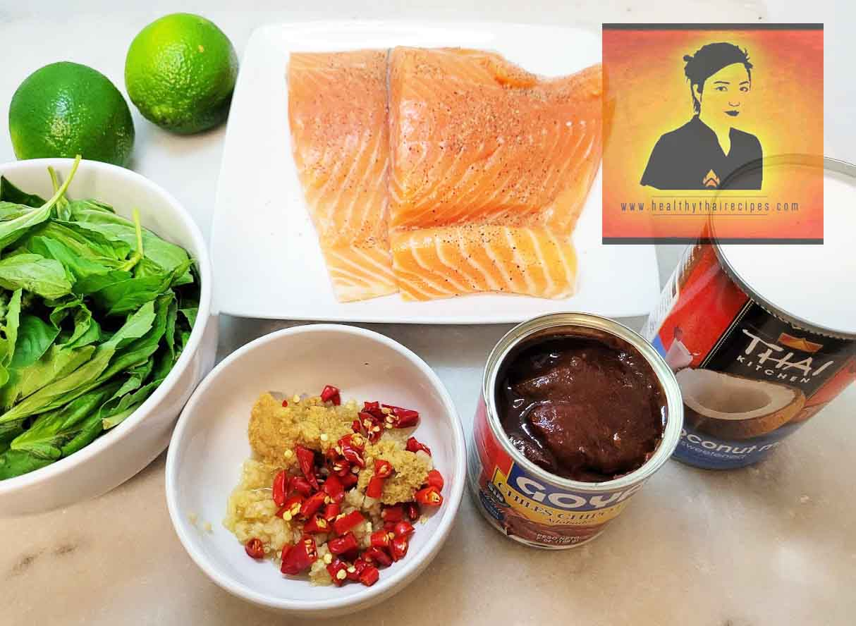Spicy Coconut Lime Salmon Ingredients