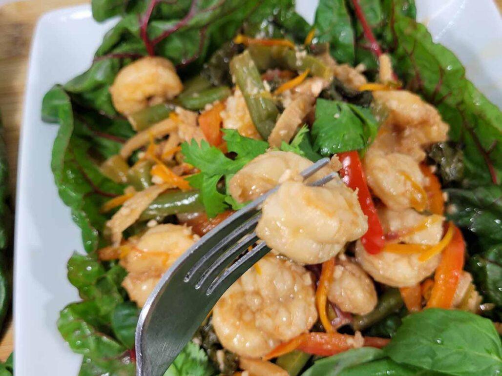 Stir Fried Shrimp with Farmbox Direct Organic greens