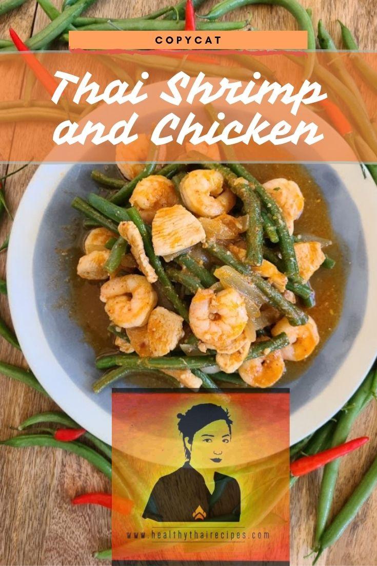 Thai Shrimp and Chicken Pinterest Image