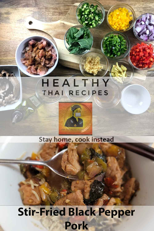 Stir-Fried Black Pepper Pork Social media image