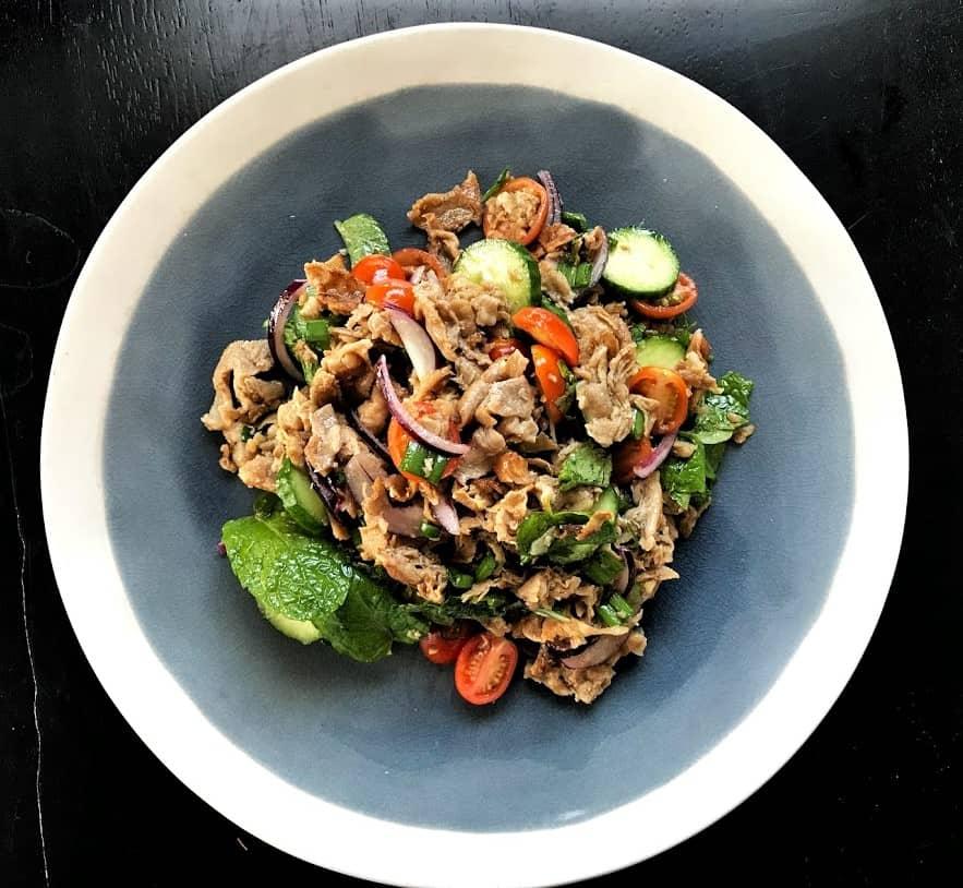 Thai Herb Shaved Pork Salad