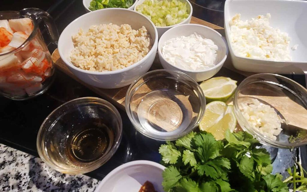Thai Style Coconut Fried Rice Ingredients