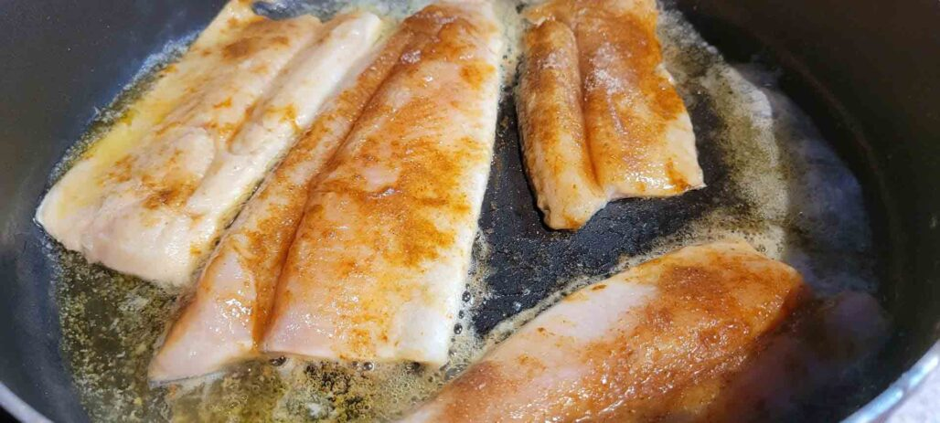 Trout in the Skillet Pan Searing